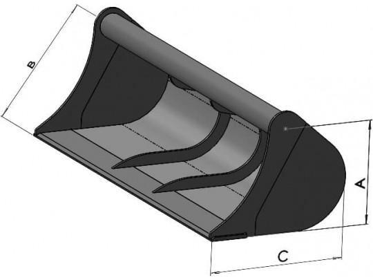 Godets gamme C1 (pelles de 7 à 10 tonnes)
